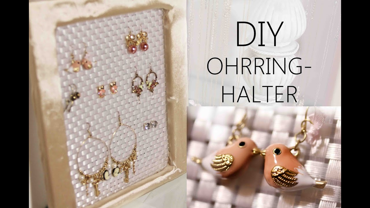 diy ohrring halter youtube. Black Bedroom Furniture Sets. Home Design Ideas