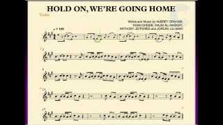 Violin Hold On, We're Going Home Drake Sheet Music