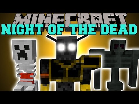 Minecraft: NIGHT OF THE DEAD (SCARY MOBS & NEW BIOMES, & EPIC WEAPONS!) Mod Showcase