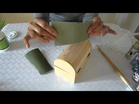 Ejemplos de uso para pinceles en manualidades en madera - Manualidades pintar caja metal ...
