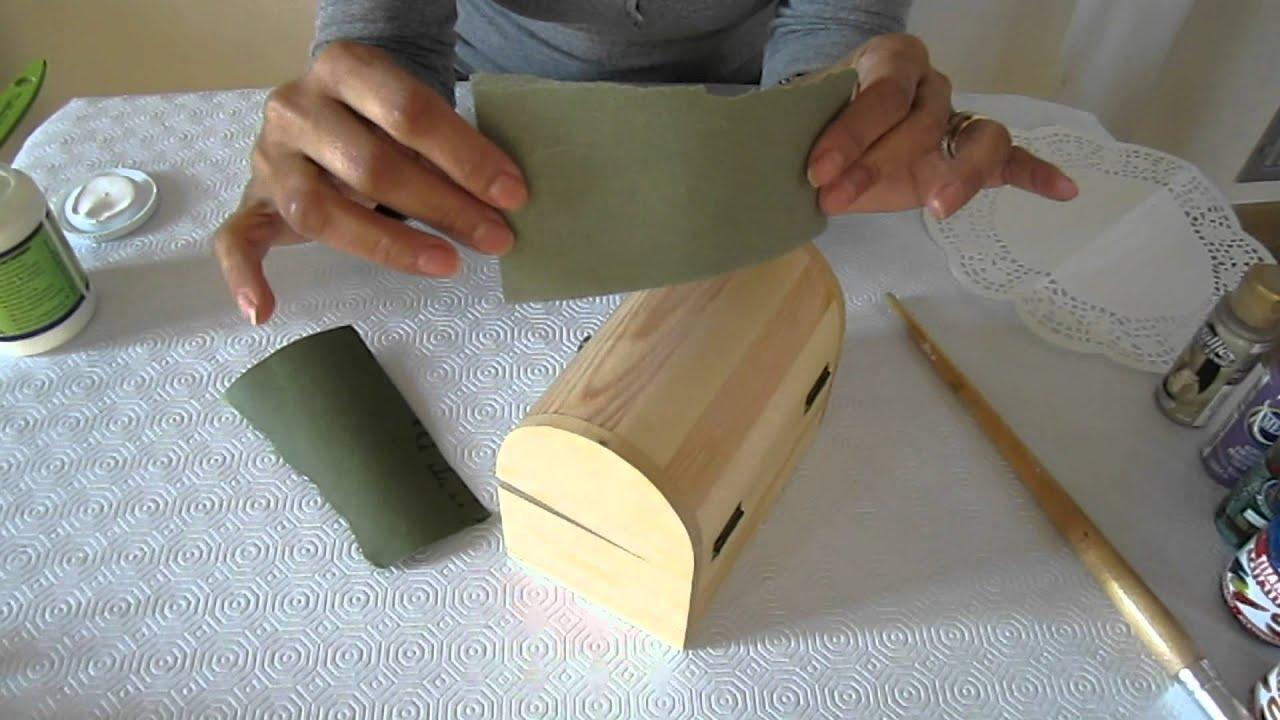 Decorar una caja de madera youtube - Cajas para decorar ...