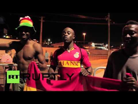 Brazil: Ghanaian and U.S. teams arrive at Arena das Dunas stadium