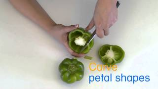 How to Create a Capsicum Garnish Flower