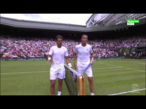 R.Nadal vs L.Rosol I Wimbledon 2014 I Match point