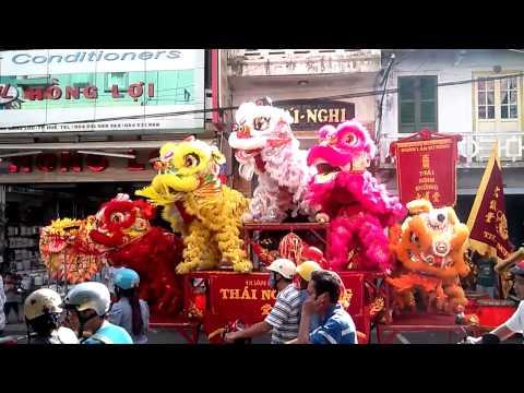 Mua lan Trung thu- Đoàn lân sư rồng THÁI NGHI ĐƯỜNG - : Anh Hồ Văn Thái Sơn 0913 439 367