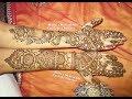 Full Hand Traditional Mehndi Henna Design Tutorial for Front Hand