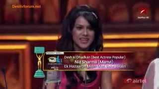 Nia Sharma Wins Ita Best Actress Desh Ki Dhadkan Award