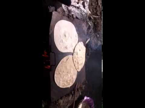 Chapati cooking in Kotli Pakistan