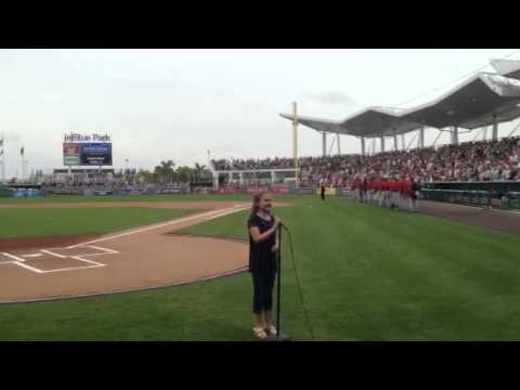 Sarah Hardwig -- Red Sox anthem