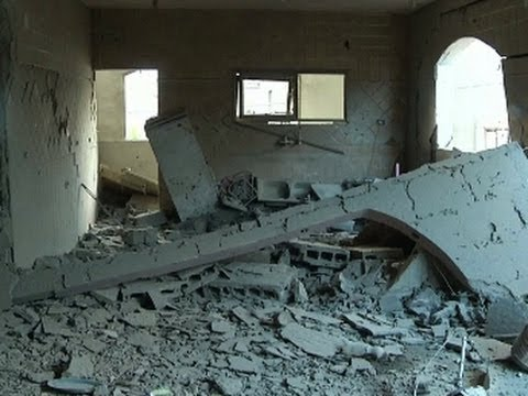 Raw: Aftermath of Israeli Airstrike on Gaza