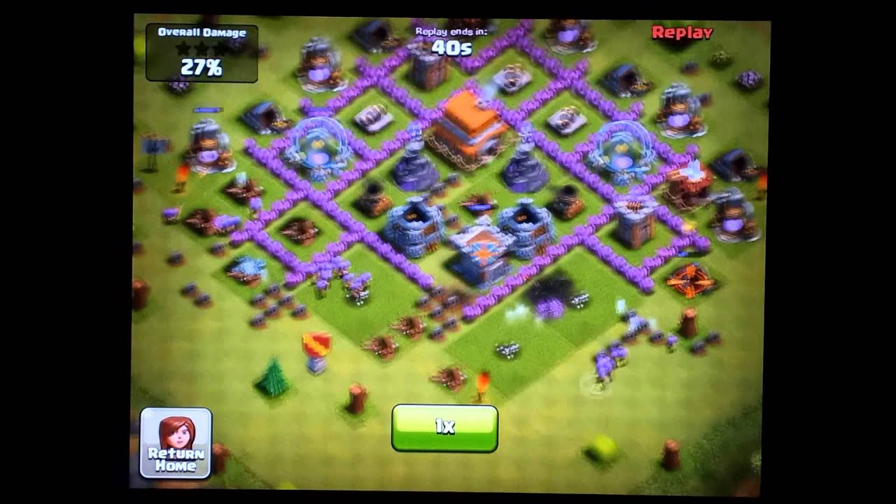 Clash of Clans Town Hall Level 6 Defense - Funneling - YouTube