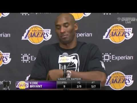 Kobe's Postgame Comments | Toronto Raptors vs LA Lakers | December 8, 2013 | NBA 2013-14 Season