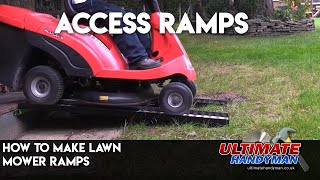 How to make small vehicle ramps