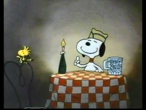 Snoopy Drinking Root Beer