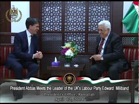 President Abbas Meets the Leader of the UK's Labour Party Edward  Miliband