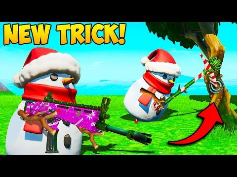*NEW* SNOWMAN SHOOT + FARM TRICK!! - Fortnite Funny Fails and WTF Moments! #785