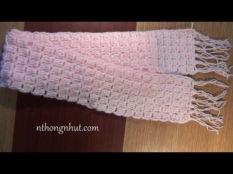 Móc khăn choàng cổ đơn giản (Subtitles English)