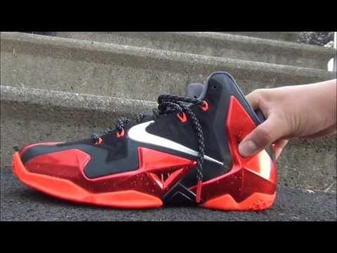 2013 Nike LeBron 11 XI Varsity Red/Bright Crimson Sneaker Review + On Feet W/ @DjDelz Dj Delz