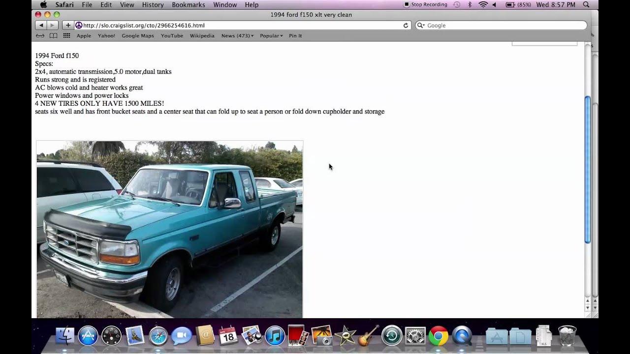 craigslist san luis obispo used cars slo trucks quite popular youtube. Black Bedroom Furniture Sets. Home Design Ideas