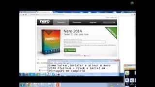 Como Baixar,Instalar E Ativar O Nero 2014 Platinum+Serial