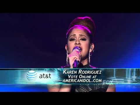 Karen Rodriguez - Idol performance week 3 - 3/16/11