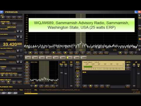 33.42 Sammamish Advisory Radio, Washington State, USA reception in Ireland