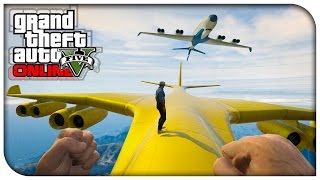 GTA 5 Online FIRST PERSON CARGO PLANE STUNTS! (Funny
