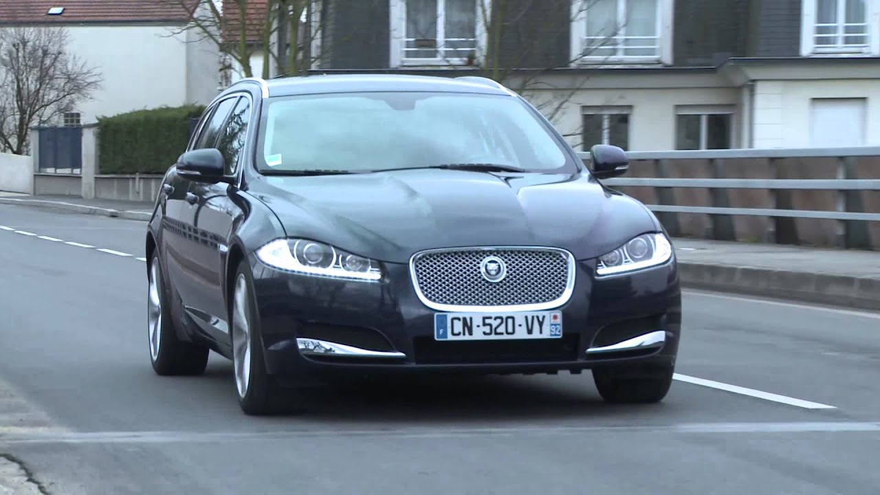 essai jaguar xf sportbrake 2 2 l diesel 200 ch bva8 luxe pre youtube. Black Bedroom Furniture Sets. Home Design Ideas