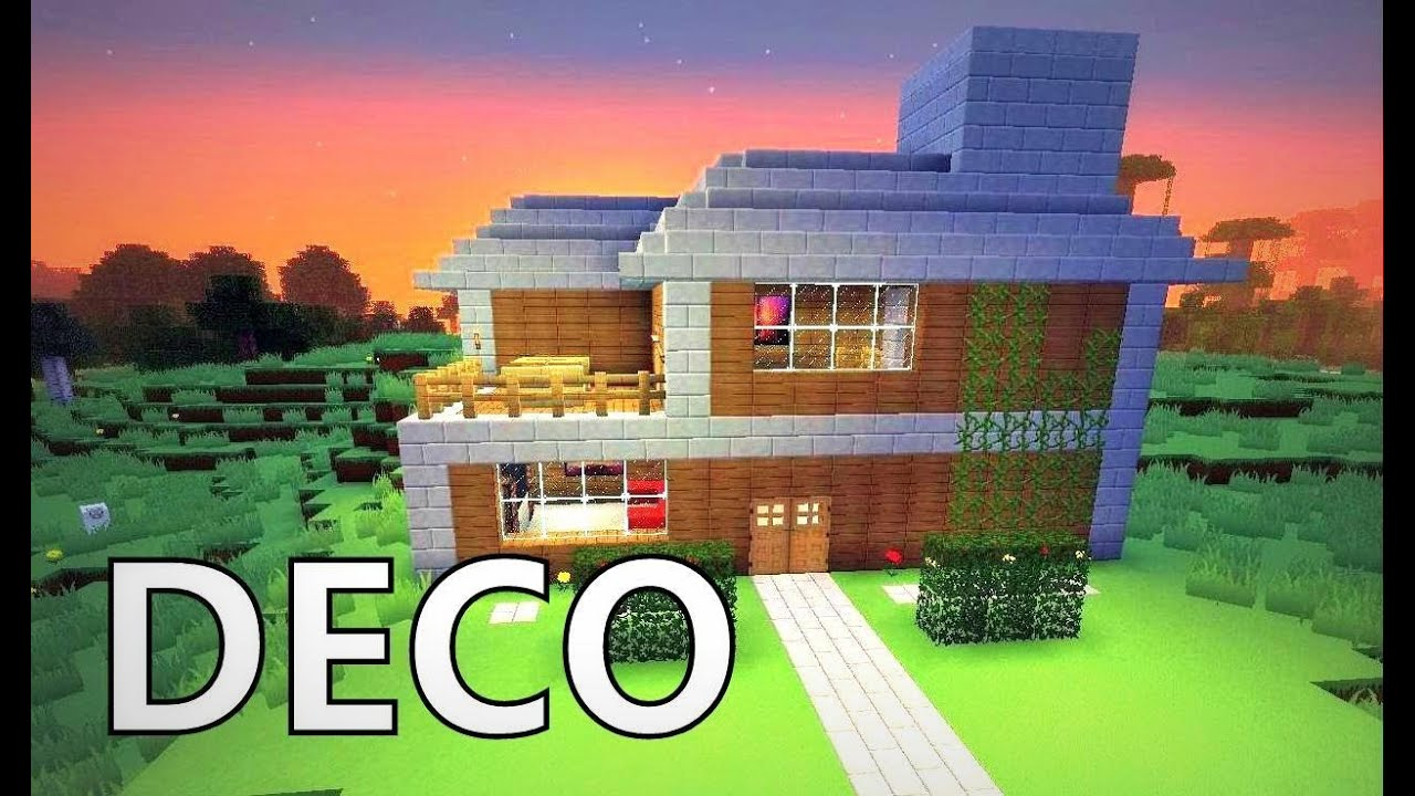 minecraft comment cr er une belle maison youtube. Black Bedroom Furniture Sets. Home Design Ideas