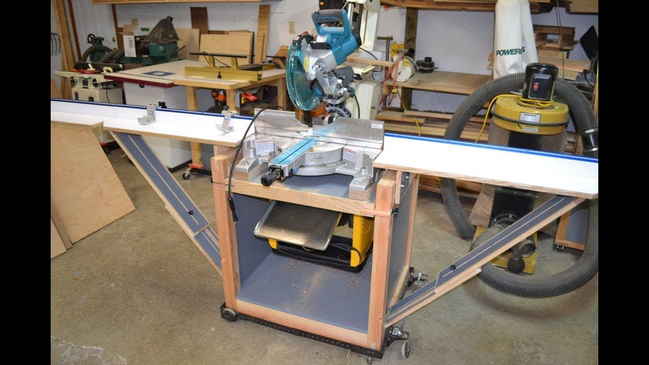 Miter Saw Stand Planer Station With Rotating Top Youtube