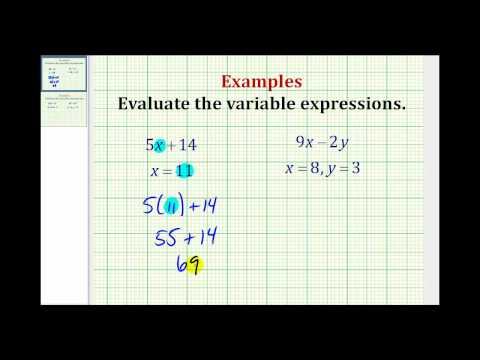 Evaluating Variable Expressions