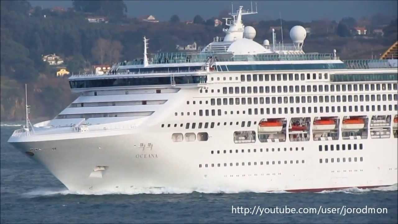 Cruise Ship OCEANA Departs A Corua December 21 2013