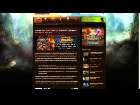 World of Warcraft: Warlords of Draenor Release Date and Cinematic Announcement Coming!