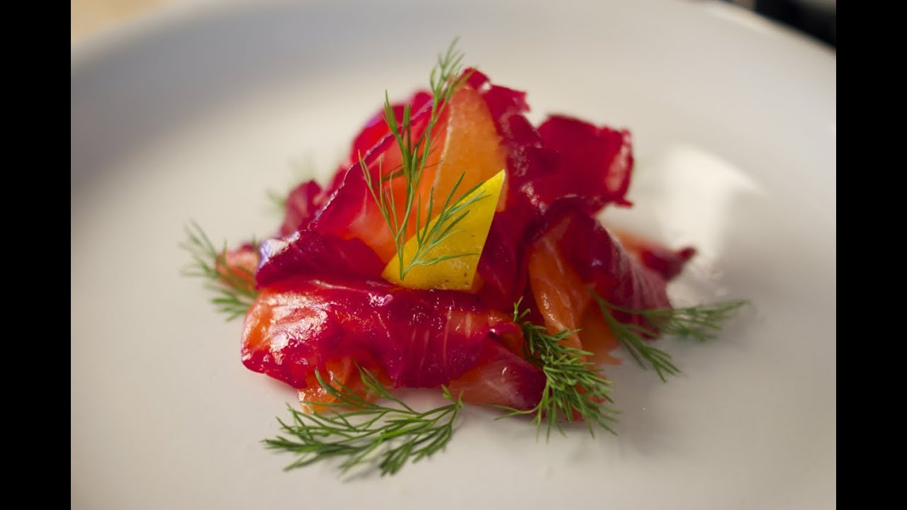 Beetroot Cured Salmon - Gravlax - Bruno Albouze - THE REAL DEAL ...