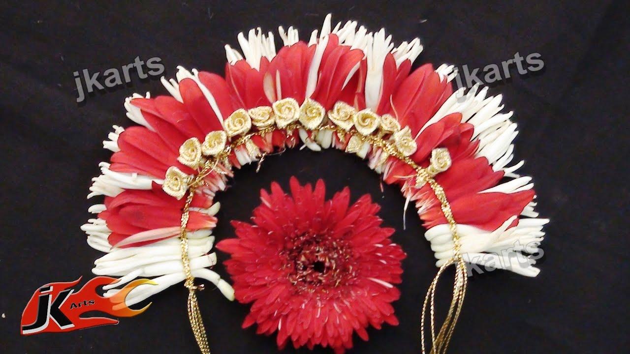 DIY Gajra Veni Flower Garland For Indian Wedding JK Arts 185