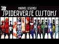 CUSTOM Spiderverse Marvel Legends spider man action figures