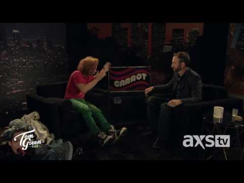 Carrot Top Shows Off Props on Tom Green Live