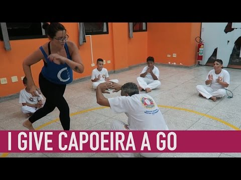 I try Capoeira in Brazil