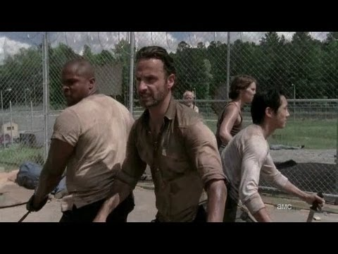 Rick Grimes All Walker Kills The Walking Dead