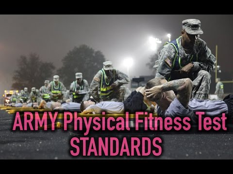 Army Physical Fitness Test Standards