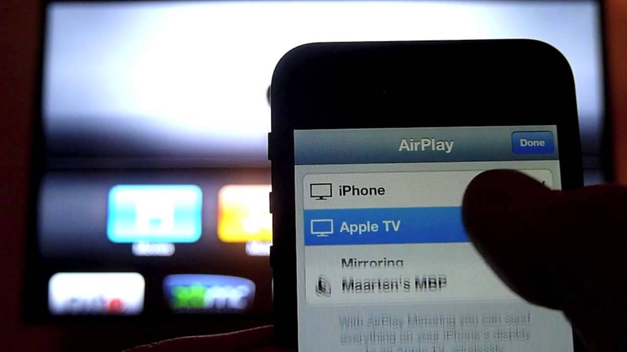 Iphone 5 airplay mirroring on apple tv 2 youtube for Mirror iphone to tv