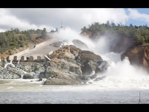 Breaking News & Exclusive Footage, Oroville Spillway, Near Catastrophic Failure.
