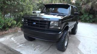 "Ford Bronco 1994 7"" Lift With 35's All Black With 351 V8"