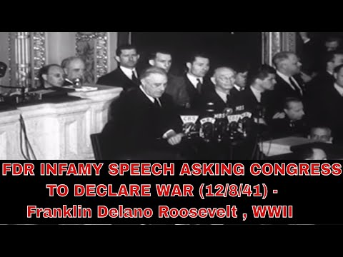 Speech Analysis: Franklin Roosevelt Pearl Harbor Address