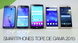 LG G4 vs S6 vs S6 Edge vs HTC One vs Huawei P8, topes de gama 2015