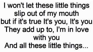 Little Things One Direction Lyrics