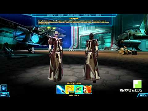 Star Wars The Old Republic - All Republic Classes & Races