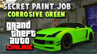 GTA 5 Secret Paint Job - GTA V Online INSANE CORROSIVE GREEN (GTA 5 Online Gameplay)