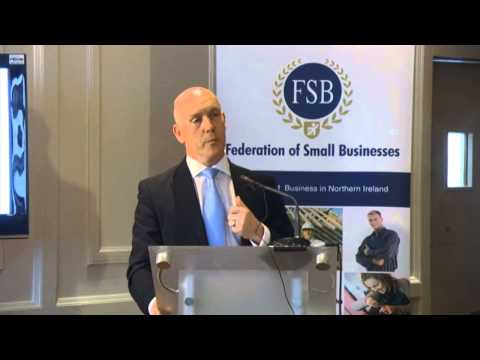 Mark Brotherston, Candidate for the NI Conservatives, presents EU Manifesto at FSB NI Hustings