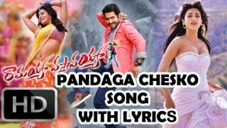 Ramayya Vasthavayya Movie| Pandaga Chesko Song With